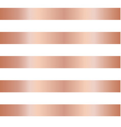 Rose gold copper foil stripes seamless background vector