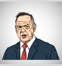 roy moore caricature portrait drawing hand-drawn vector image