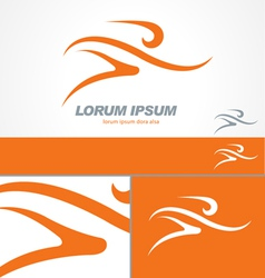 Running Gym Sport Man Logo Template vector image