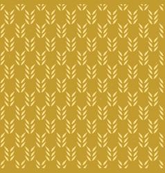 Rustic leaf sprig seamless pattern hand vector