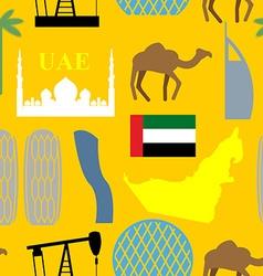 Seamless pattern united arab emirates desert vector