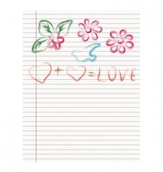 sheet love vector image