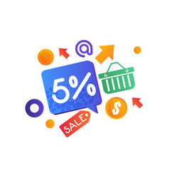 shopping sale signs internet shopping e-commerce vector image