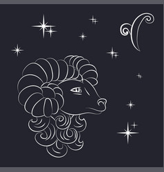 Sign of the zodiac aries is the starry sky vector