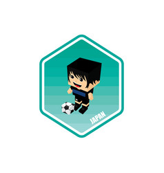 Soccer isometric theme japan vector