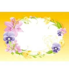 Spring yellow background Easter Mothers day vector