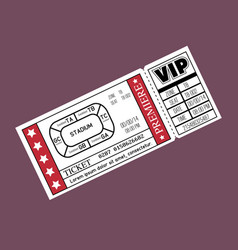 stadium ticket entrance icon vector image