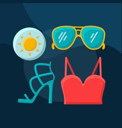 Summer fashion flat concept icon vector