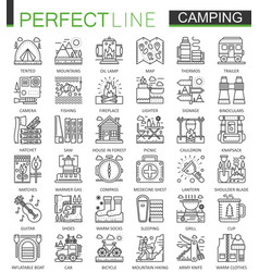 Summer outdoor camping concept symbols perfect vector