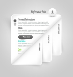 Template elements Personal VCard template vector image