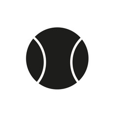 tennis ball icon in trendy flat style isolated on vector image