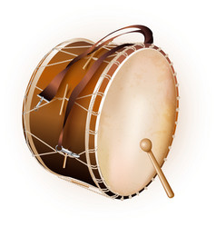 Traditional Turkish drum isolated on white vector