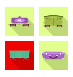 train and station icon set vector image