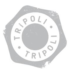Tripoli stamp rubber grunge vector image