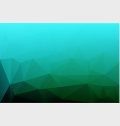 Turquoise shades low poly background vector