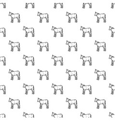 veal pattern seamless vector image