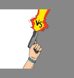 versus letters fight backgrounds comics vector image