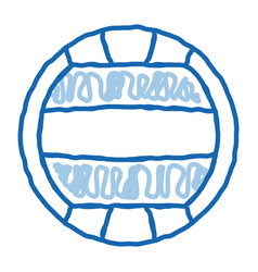 Volleyball doodle icon hand drawn vector