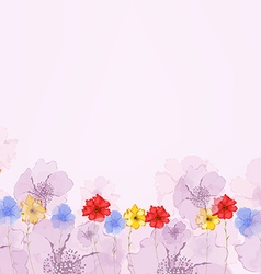 Watercolor Colorful Poppies background vector image