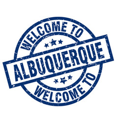 Welcome to albuquerque blue stamp vector