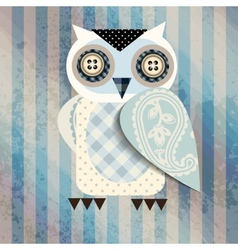 White cartoon owl vector