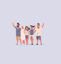 young people group taking selfie photo vector image