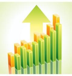 3d business graph vector image