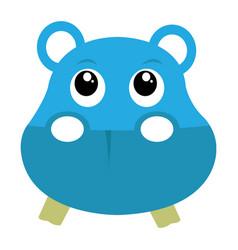avatar of hippopotamus vector image vector image