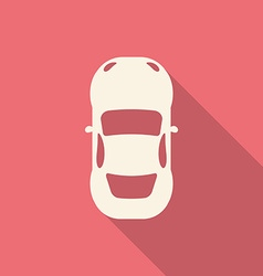 Flat design modern of Car Icon with long shadow vector image vector image