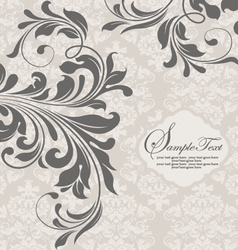 GRAY INVITATION CARD WITH PLACE FOR TEXT vector image