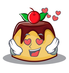 In love pudding character cartoon style vector