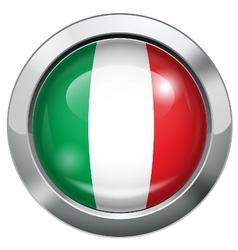 Italy flag metal button vector image