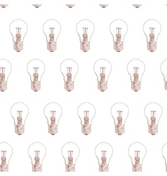 light bulb doodle seamless pattern on white vector image