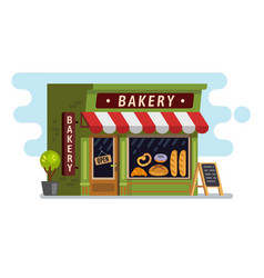Bakery shop house cafe building vector