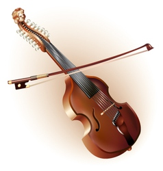 Classical viola d amore isolated on white vector image vector image