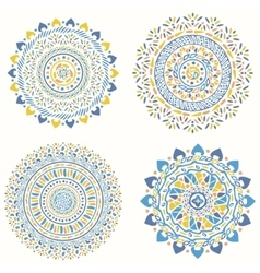 Collection of geometric round decorative elements vector image vector image