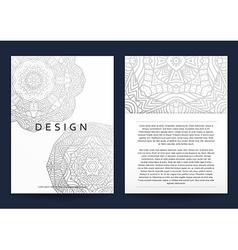 Magazine with silver mandala Realistic brochure vector image