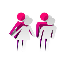 male and female sign detachable paper vector image