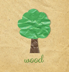 Paper Wood Symbol vector image vector image