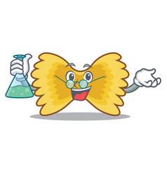 professor farfalle pasta character cartoon vector image