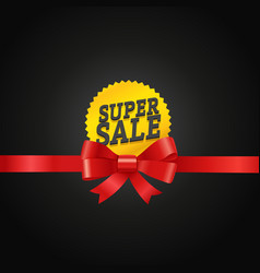 super sale concept vector image vector image