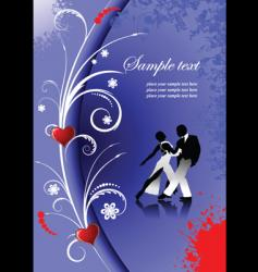 valentines day tango vector image vector image