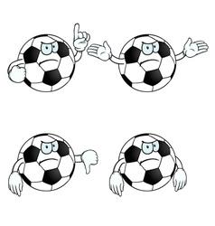 Angry cartoon football set vector image vector image