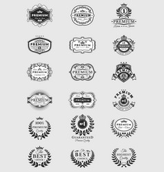 badges stickers premium quality isolated on white vector image vector image