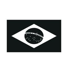 Brazil Flag on white background vector image