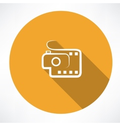 camera and film icon vector image
