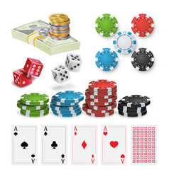casino design elements poker chips vector image vector image