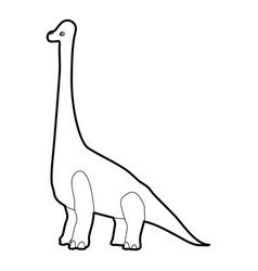 diplodocus icon outline vector image vector image