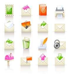 mail service icons vector image vector image