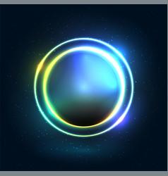Neon colorful circle modern design vector